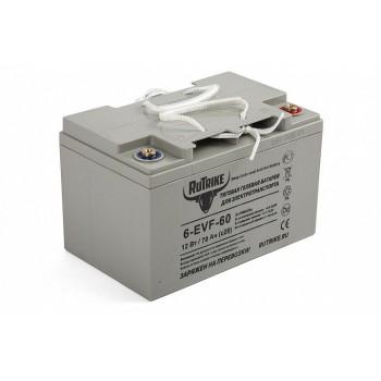 Тяговый гелевый аккумулятор RuTrike 6-EVF-60 (12V60A/H C3)