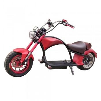 Электроскутер Citycoco Harley Chopper 2000W, 60В 20Ah Красный