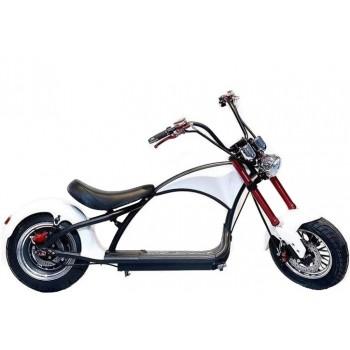 Электроскутер Citycoco Harley Chopper 2000W, 60В 20Ah Белый