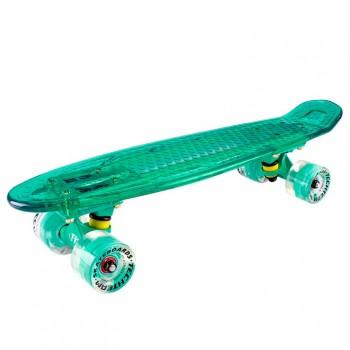 Скейтборд пластиковый Transparent 22 light sea blue 1/4 TLS-403