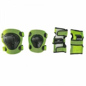 Набор защиты Tech Team Safety line 100, цвет зеленый (размеры S, M, L)