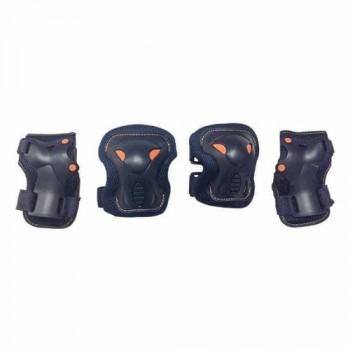 Набор защиты Tech Team Safety line 600, цвет черный (размеры XS, S, M, L)