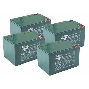 Комплект тяговых гелевых аккумуляторов RuTrike 6-DZF-12 (48V12A/H C2)